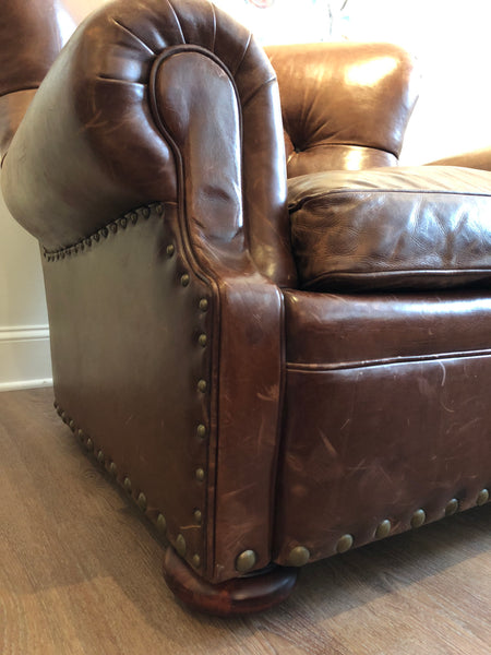 Ralph Lauren Home Writer's Chair in Distressed Leather