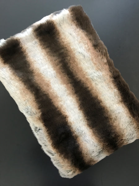 Custom Faux Chinchilla Fur Throw