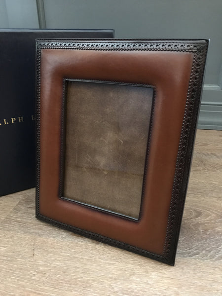 Ralph Lauren Home Brogue Leather Frame 5x7