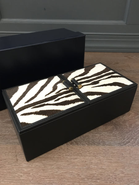 Ralph Lauren Home Chatwin Zebra Print Box