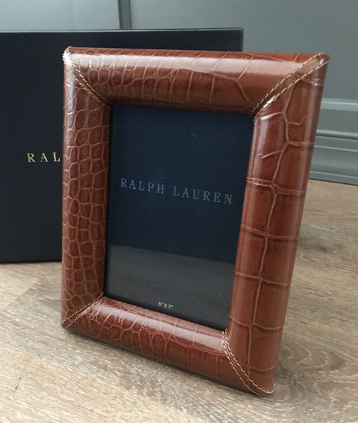 Ralph Lauren Home Bennett Leather Frame 5x7