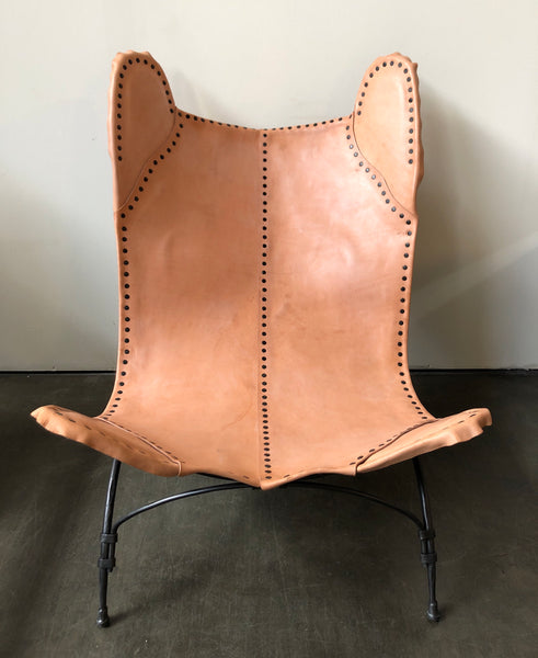 Ralph Lauren Home New Safari Camp Chair in Sunbleached Leather