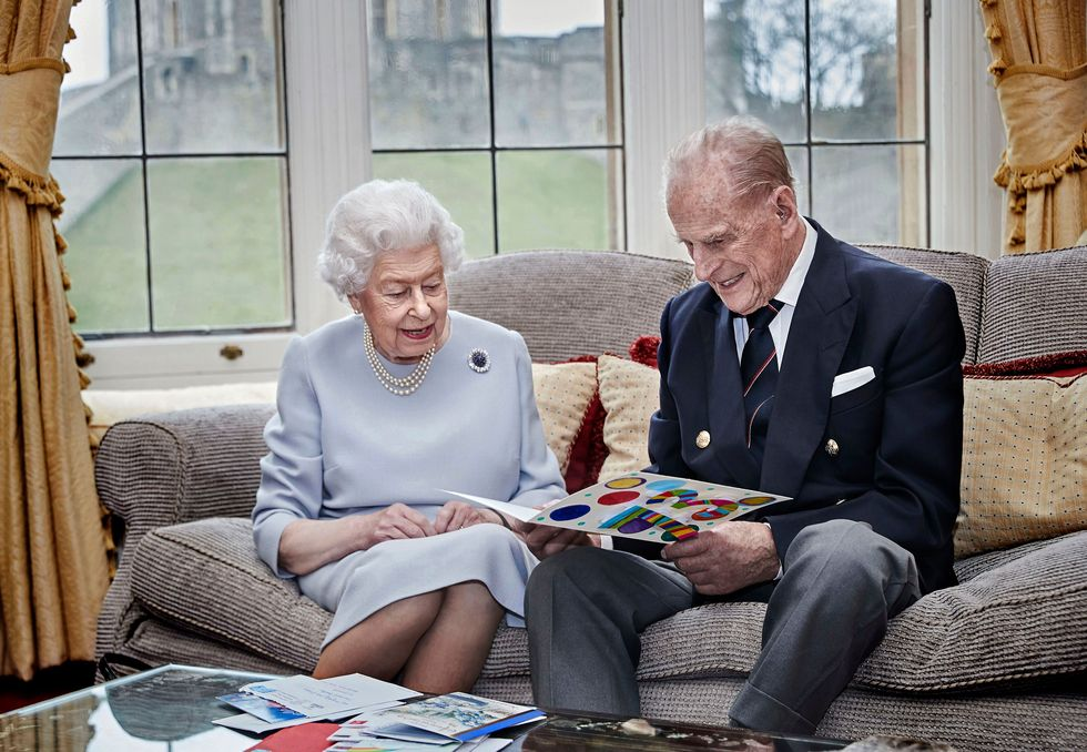 The royal couple have been married for 73 years.