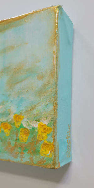 Blue Waters and Yellow Roses
