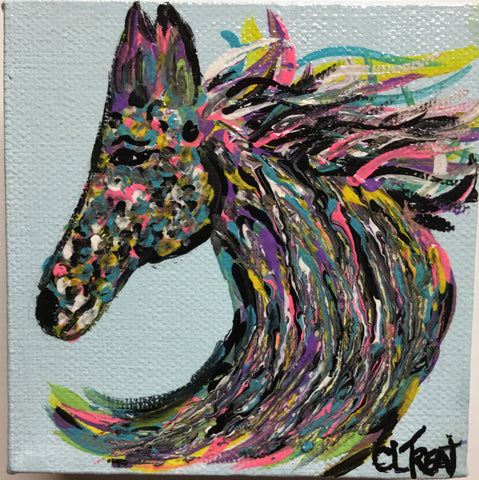 DONATION: Woof Wag & Wine 2017 Horse Head by Christy L. Treat