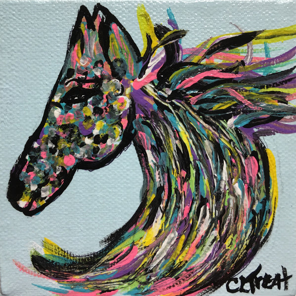Horse Head Painting by CLTreat