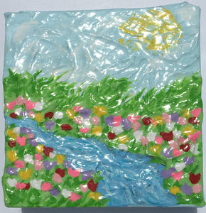 Stream of Sunshine Original Painting by CLTreat