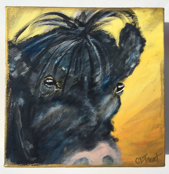 "Beatrice the Cow ~ 6"" x 6"""
