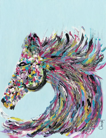 Original Horse Head Painting