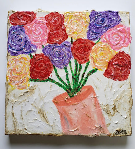 "Color of Roses ~ 12"" x 12"" x 1.5"""