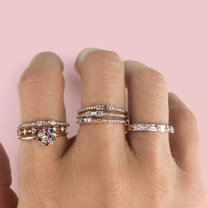 Eight Diamond Segment Ring Rose Gold