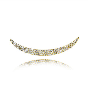 Diamond Crescent Ear Crawler Yellow Gold