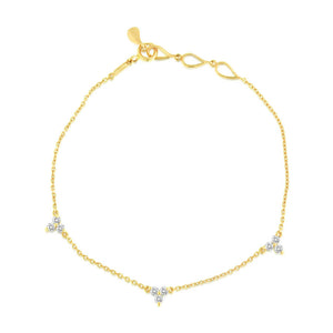 Diamond Trinity Bracelet Yellow Gold