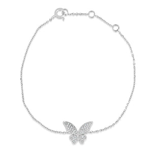 Diamond Butterfly Bracelet White Gold