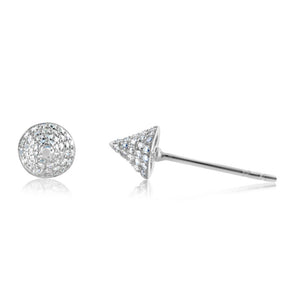 Diamond Spike Stud Earrings White Gold