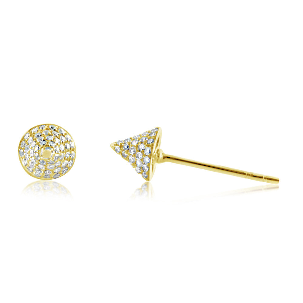 Diamond Spike Stud Earrings Yellow Gold