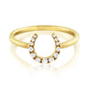 Diamond Horseshoe Ring Yellow Gold