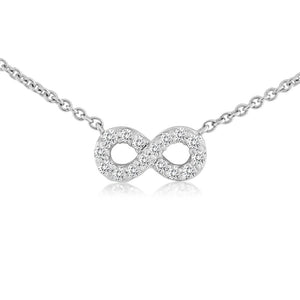 Mini Infinity Diamond Necklace White Gold