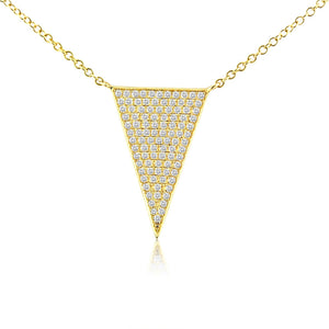 Diamond Triangle Necklace Yellow Gold