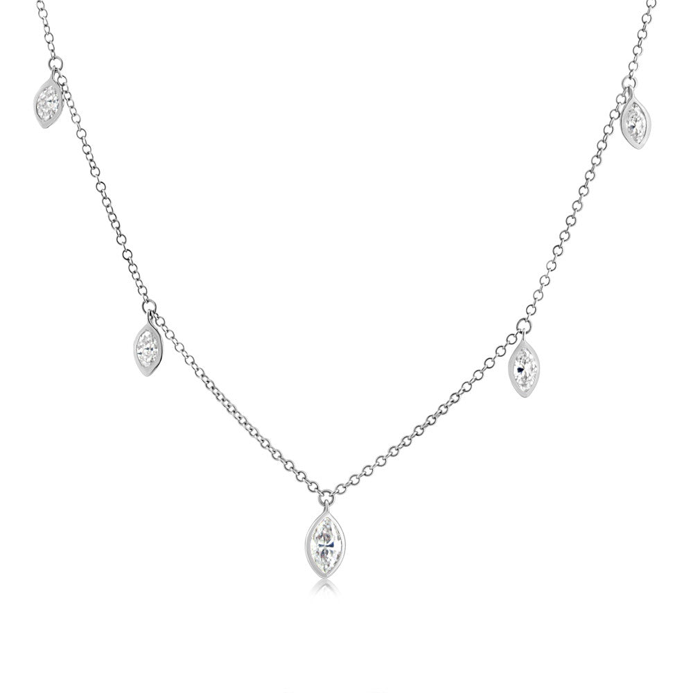 tw w marquise cut t k and off necklace pendant ct diamond solitaire