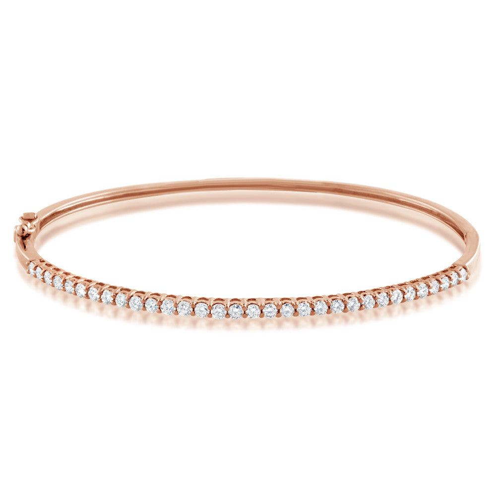 Diamond Bangle Rose Gold