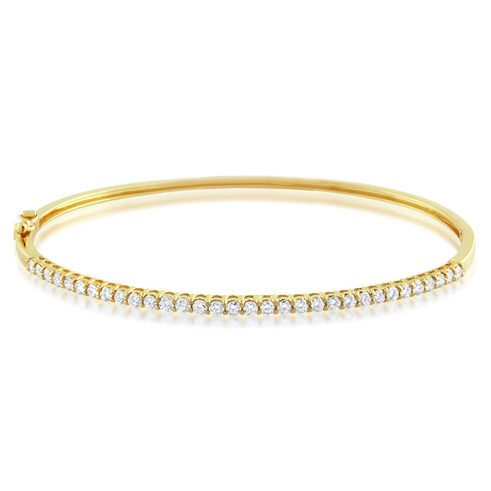 Diamond Bangle Yellow Gold