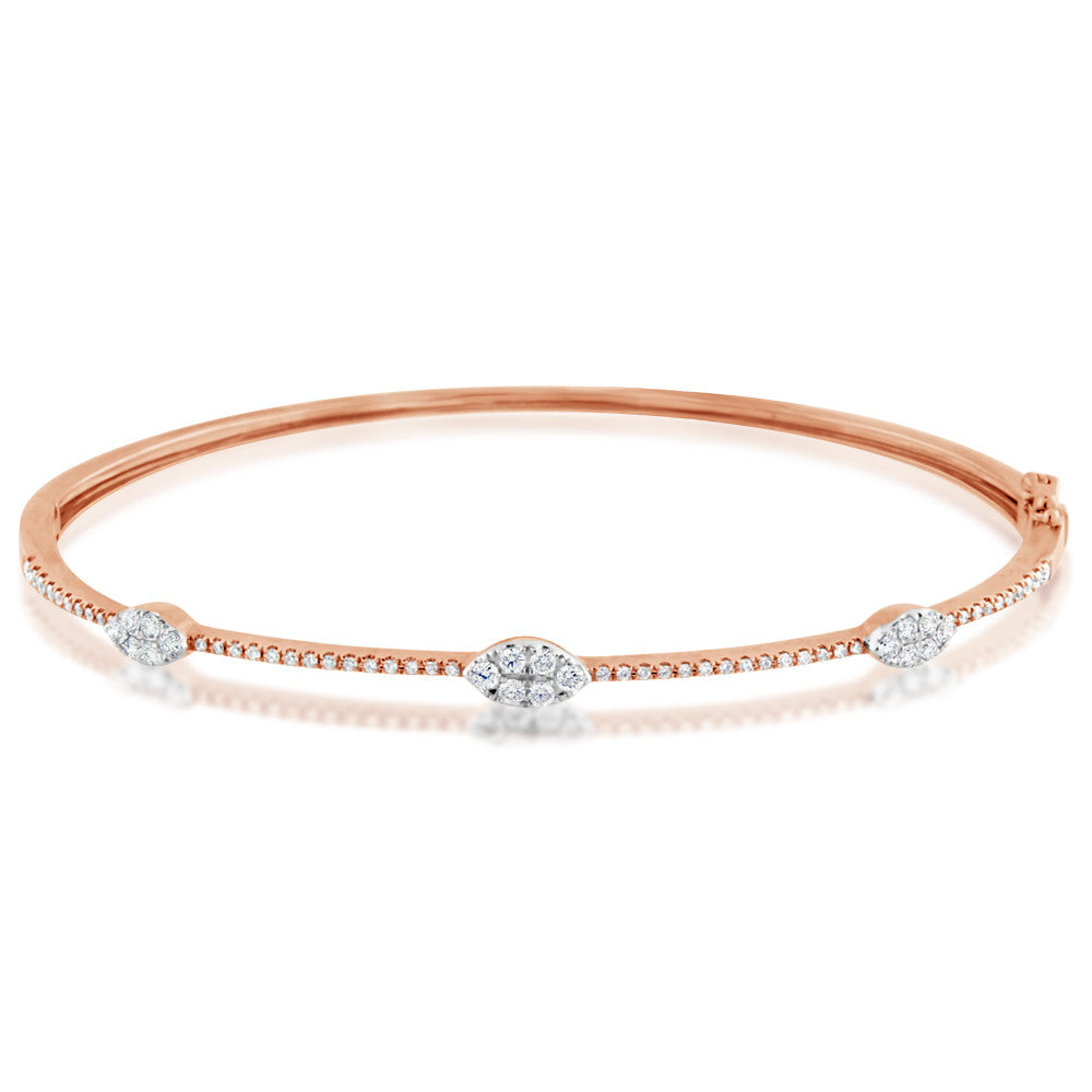 Diamond Marquise Bangle Rose Gold