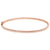 Thin Diamond Bangle Rose Gold