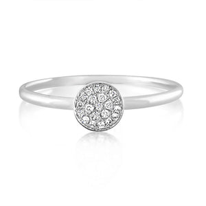 Diamond Disc Ring White Gold