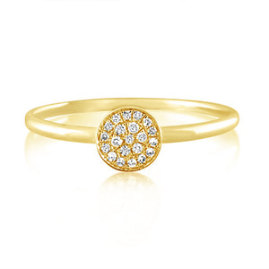 Diamond Disc Ring Yellow Gold
