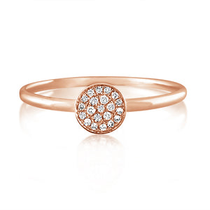 Diamond Disc Ring Rose Gold