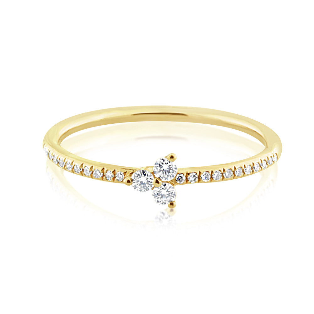 Diamond Trinity Ring Yellow Gold