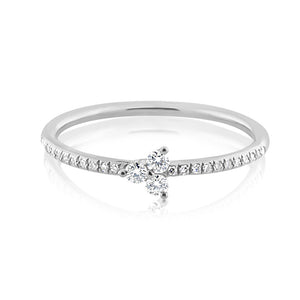 Diamond Trinity Ring White Gold