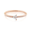 Diamond Trinity Ring Rose Gold