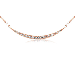 Diamond Crescent Necklace Rose Gold
