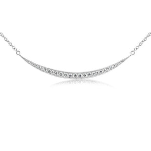 Diamond Crescent Necklace White Gold