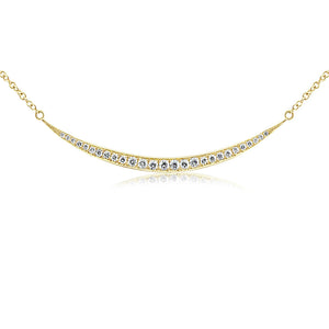 Diamond Crescent Necklace Yellow Gold