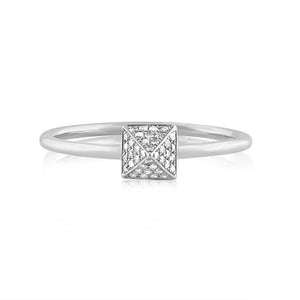 Diamond Pyramid Ring White Gold