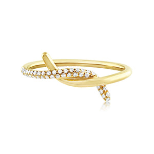 Diamond Knot Ring Yellow Gold