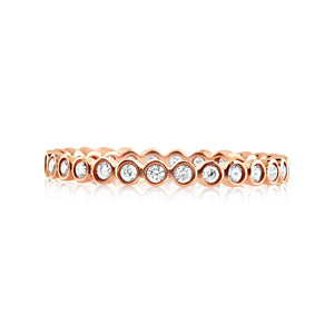 Diamond Round Eternity Ring Rose Gold