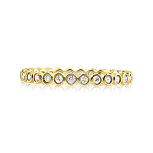 Diamond Round Eternity Ring Yellow Gold
