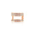 Diamond Helix 3 Row Ear Cuff Rose Gold