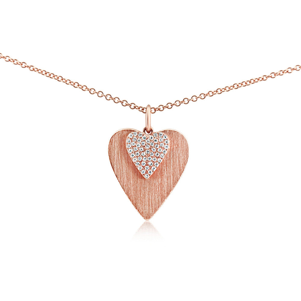 gold rose image silver necklaces hot amp double heart diamonds necklace pendant