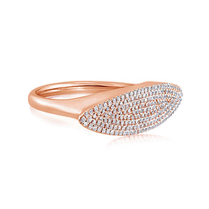 Diamond Pave Marquise Ring Rose Gold