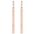 Diamond Triangle Tassel Earrings Rose Gold