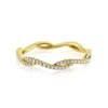 Diamond Wave Eternity Ring Yellow Gold