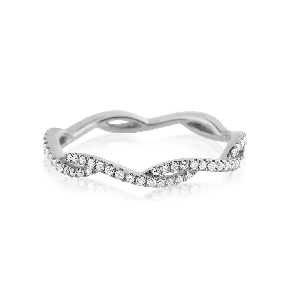 Diamond Wave Eternity Ring White Gold
