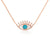 Turquoise Evil Eye Necklace Rose Gold