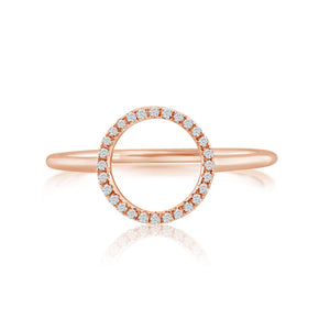 Diamond Circle Ring Rose Gold
