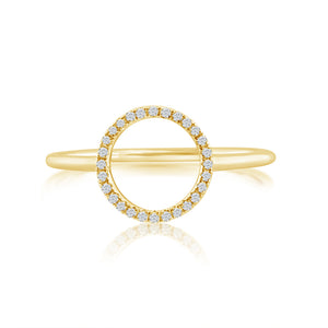 Diamond Circle Ring Yellow Gold